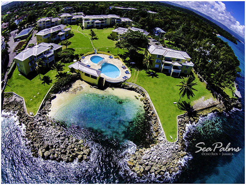 Breathtaking aerial view of Seapalms Jamaica